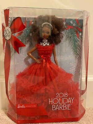 Barbie Holiday 2018 Doll African American 30th Anniversary Collection Collector