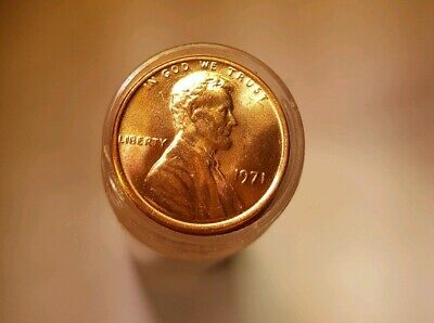 1971 P  LINCOLN MEMORIAL CENT Penny CHOICE BU ROLL Nice 50 COINS
