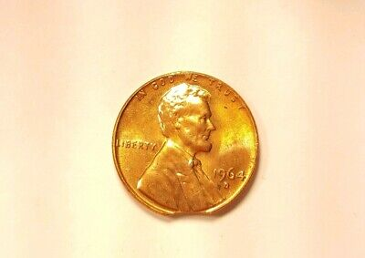 1964 D Lincoln Memorial Cent Penny Error Coin Clipped Planchet Strike Double Die