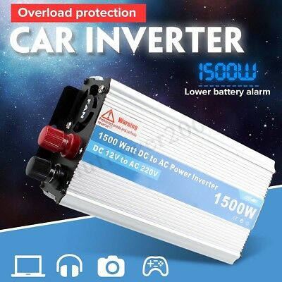 1500W Modified Sine Wave Power Inverter DC 12V to AC 220V Car Charger Converter