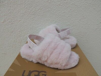 c7f79a69643 WOMEN'S SHOES UGG FLUFF YEAH SLIDE Sheepskin Slipper Sandals 1095119 ...