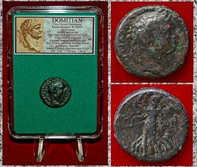 Ancient Roman Empire Coin Of DOMITIAN Victory On Reverse RARE JUDAEA CAPTA Group