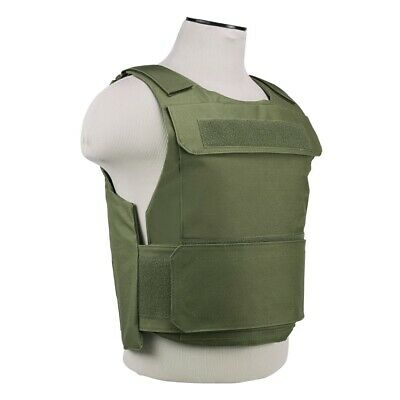 NcStar Discreet Lightweight Plate Carrier Tactical Vest Police SWAT XSM-S GREEN