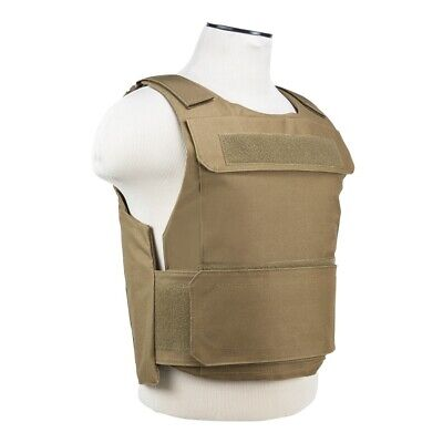 NcStar Discreet Lightweight Plate Carrier Tactical Vest Police SWAT XSM-S TAN