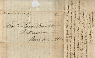 1819 Dr Ezra MD Medicine Hon Levi Bartlett Kingston NH Influenza Typhus Flu