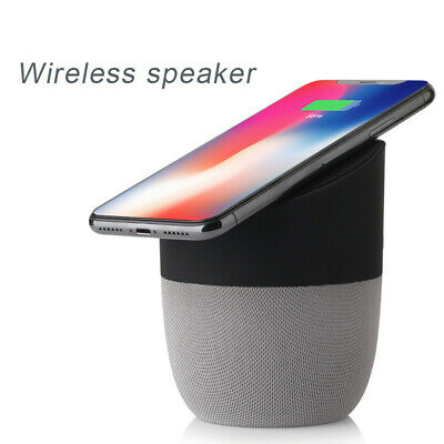 Qtouch 2in1 Bluetooth Speaker Qi Wireless Charger Charging Hands Free Talking #