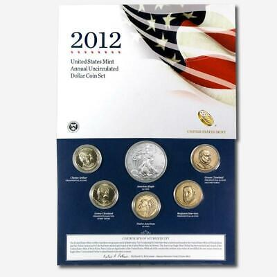2012 6-Coin U.S. Mint Annual Uncirculated Dollar Coin Set - Gem In OGP