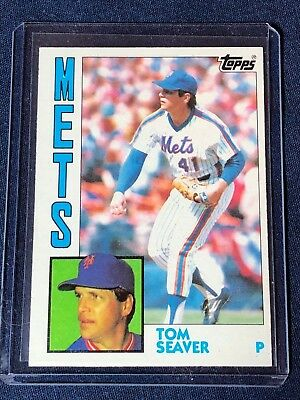1984 Topps Tom Seaver Baseball Card 740 Mint Hof New York Mets Free Ship