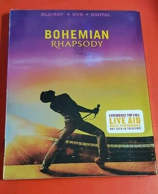 BOHEMIAN RHAPSODY,BLU-RAY/DVD/DIGITAL, 2018 with slipcover NEW