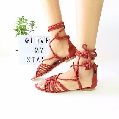 924bd1123a5d JOIE Falk Ankle Wrap Sandals In Brick Red - Women s Size 40 - RRP  288.00