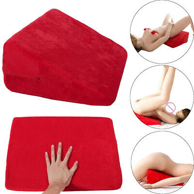 Position Aid Pillow Sex Microfiber Couple Wedge Red Cushion Foam Ramp