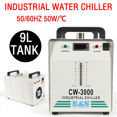 CW-3000 Thermolysis Industrial Water Chiller for 60/80W CO2 Glass Tube 9L