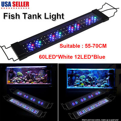 LED Aquarium Light Full Spectrum Freshwater Fish Tank Plant Marine Fit 55-70cm