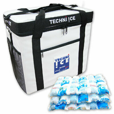 TECHNI ICE Cooler Bag 36Qt (34L) Heavy Duty Insulated Plus 3x Reusable Ice Pack