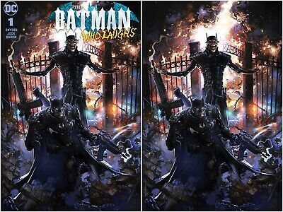 Batman Who Laughs 1 Clayton Crain Special Edition Virgin Variant Set W/ Coa Nm