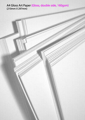 A4 Gloss Art Paper (Gloss, double side, 160gsm) 20 sheets/pack