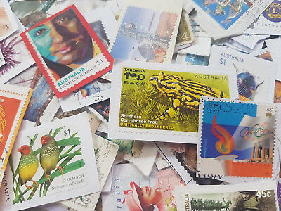 1000 Australian used stamps bulk incl $1 stamps kiloware FAST POST. DISCOUNTED !