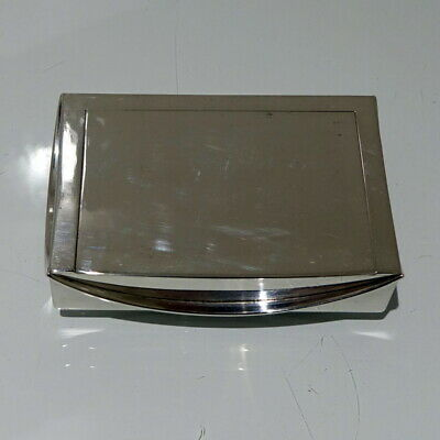 20th Century Antique George V Sterling Silver Snuff Box London 1918 Omar Ramsden