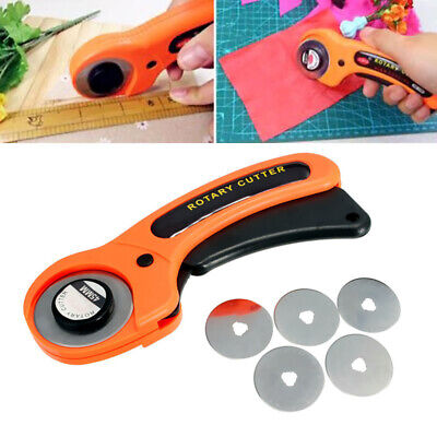 45mm Rotary Cutter Premium Quilters Quilting Sewing Fabric Cutting Craft Tool DK