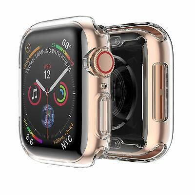 For Apple Watch Series 4 40mm 44mm Case Soft TPU Cover Built-in Screen Protector