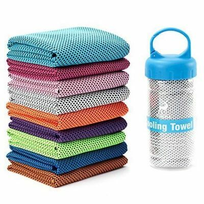 Instant Cooling Towel ICE Cold Cycling Jogging Gym Sports Outdoor Casual #Yullu
