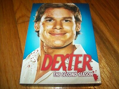 Dexter 4-Dvd Set The Complete Second Season 12 Episodes Very Good Condition
