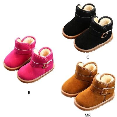 Toddler Baby Kids Boys Girls Snow Boots Winter Warm Soft Sole Crib Shoes Booties