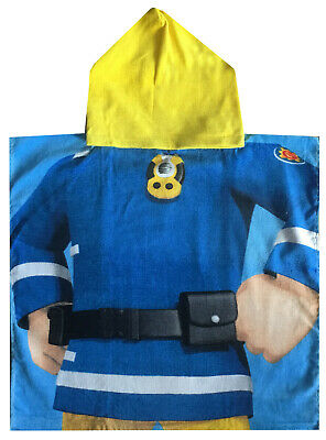 Fireman Sam Poncho Hooded Towel
