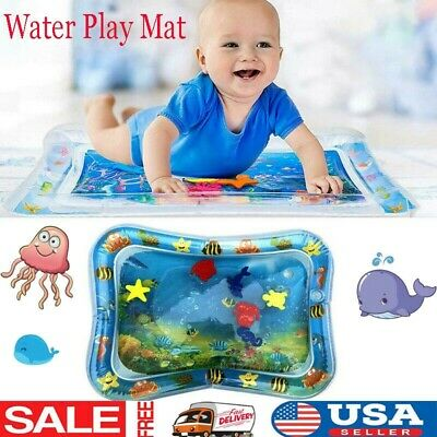 US Inflatable Baby Infant Water Play Cartoon PVC Mat Fun Tummy Time Sea World