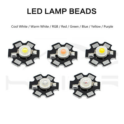 10 50pcs LED Bulb Diodes Lamp 3W With Star PCB Light Beads LED COB Chip