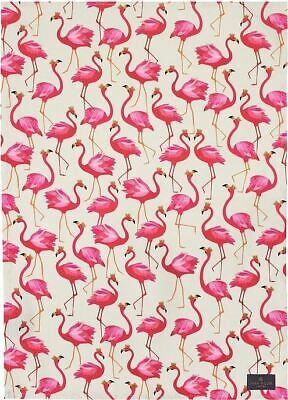 Sara Miller tea towel flamingo repeat