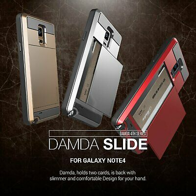 Slide Card Pocket Armor Shock Proof Case Cover for Samsung Galaxy Note 3 4 5