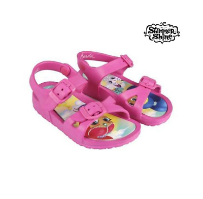 Girls Shimmer And Shine Pink Summer Sandals Beach Sea Shoes Genie Aqua Shoe