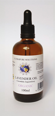 100ml Lavender Essential Oil Certified ORGANIC - 100% Pure With PIPETTE