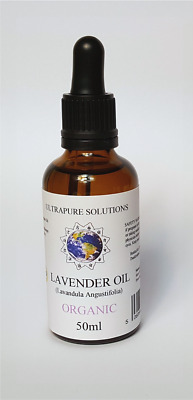 50ML Lavender Essential Oil Certified ORGANIC - 100% Pure With PIPETTE
