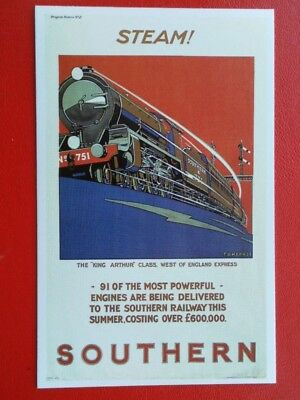 Postcard Steam - Southern Railway - 91 Of Most Powerful Engines Delivered To S.r