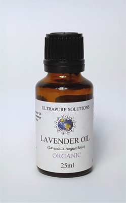 25ML Lavender Essential Oil Certified ORGANIC - 100% Pure With DROPPER