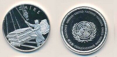 Zaire: 12.9g 925 Silver Proof Medal (32mm), UN Countries