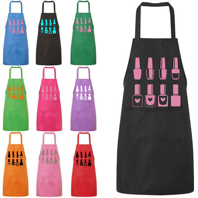 Nail Technician Apron Work Beauty Uniform Personalised Choice of Colours