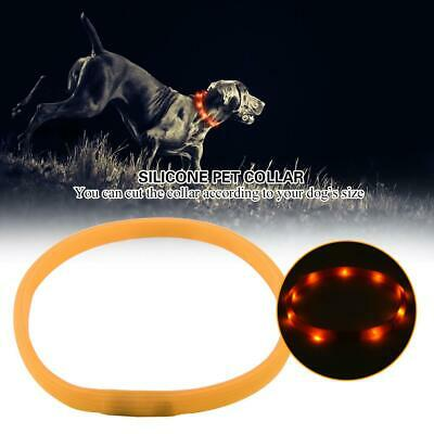 Rechargeable LED Night Luminous USB Charging Pet Dog Puppy Neck Collar Soft