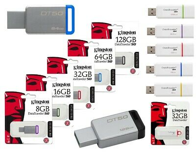 Pendrive G4 Dt50 Usb 3.1 Kingston Chiavetta 8Gb-16Gb-32Gb-64Gb-128Gb Memoria 3.0