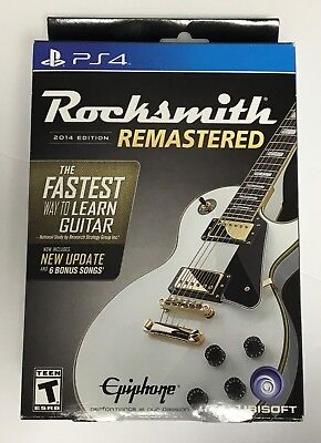 Rocksmith 2014 Edition Remastered - PS4 - Brand New - Real Tone Cable Included