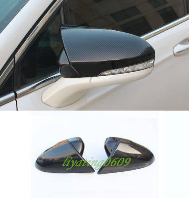 2pcs Chrome Side Door Rearview Mirror Cover Trim For Ford Fusion Mondeo 13-16