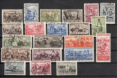 Russia 1933 Sc.489-509 Zag 317-337 Nations of the USSR Used (with gum) CV $80.00