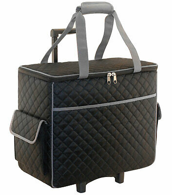 Quilted Sewing Machine Trolley Black Everything Mary EVM3598