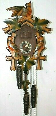 Antique / Vintage Schmeckenbecher 3 Weight Black Forest Musical Cuckoo Clock.