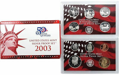 2003 S US Mint Silver Proof 10 Coin Set