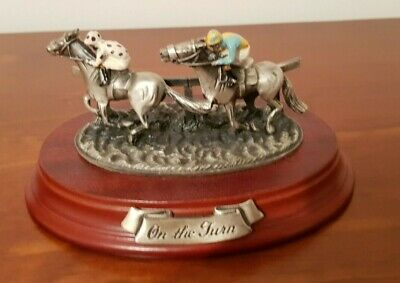 """Horse Racing figurine """"On the Turn"""" Limited Edition by Mark Models Ltd"""