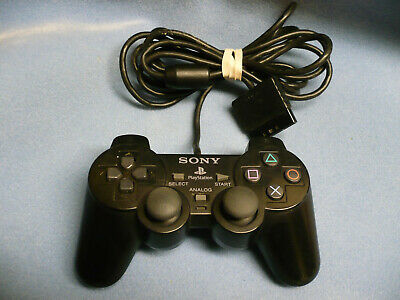 Official Sony Playstation 2 PS2 Dual Shock Controller Black SCPH-10010  PS2