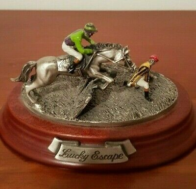 """Horse Racing figurine """"Lucky Escape"""" Limited Edition by Mark Models Ltd"""